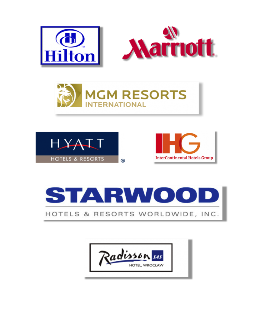 Our teams have experience with every major of brand of hotel.  We work in all 50 states and work is done on sight.