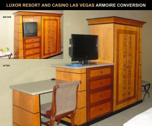 Luxor Resort & Casino armoire conversion project.