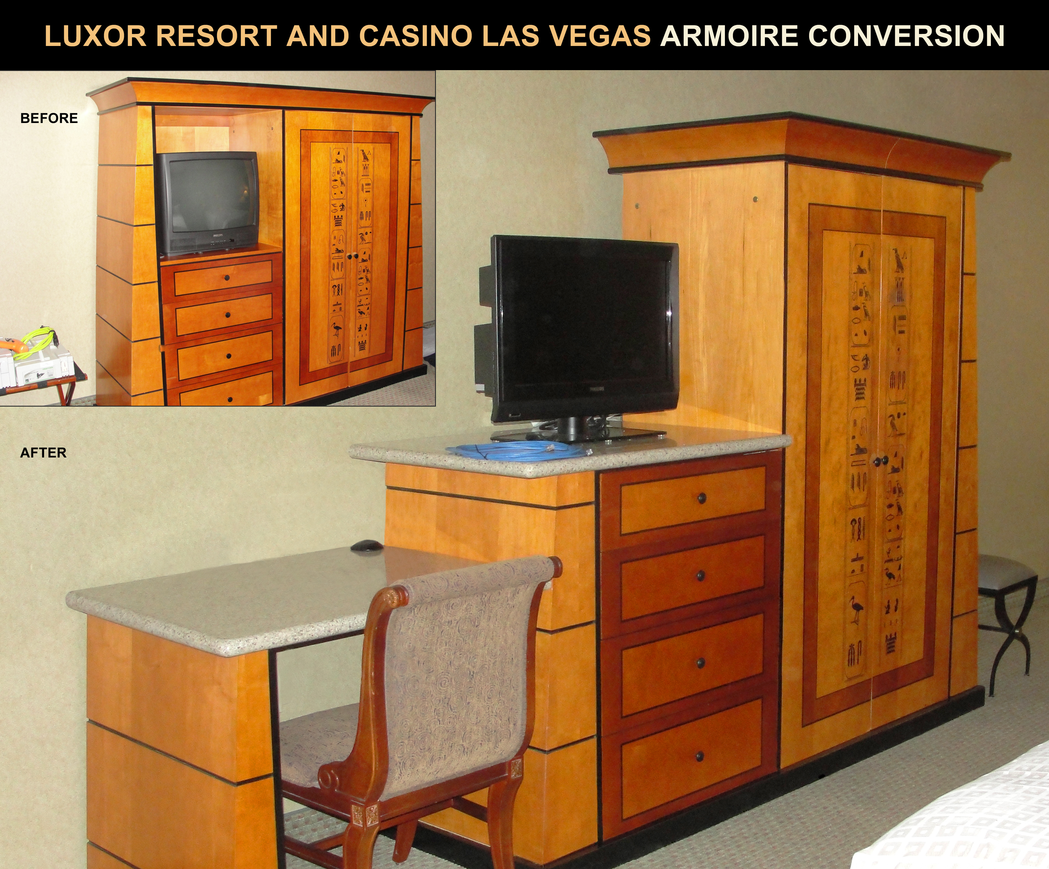 Genial Luxor Resort U0026 Casino Armoire Conversion Project.